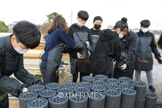 전북 익산 부송중, 훈훈한 사랑의 연탄 나눔 봉사 진행