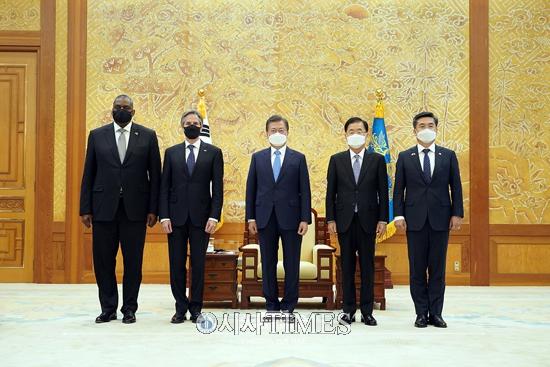 """서훈, 블링컨·오스틴 면담…""""美대북정책, 韓 의견 적극 참고"""""""